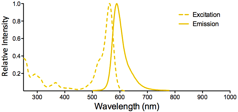 ATTO 565 Fluorophore Excitation and Emission Spectra