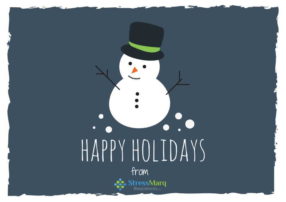 Happy Holidays from the team at StressMarq