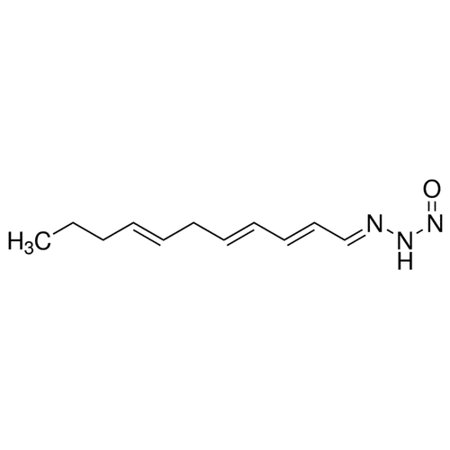 <p>Chemical structure of Triacsin C (SIH-203), a Fatty acyl-CoA synthase inhibitor. CAS #: 76896-80-5. Molecular Formula: C11H17N3O . Molecular Weight: 207.27 g/mol.</p>