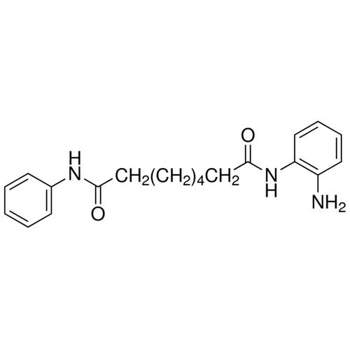 <p>Chemical structure of BML-210 (SIH-348), a HDAC inhibitor. CAS #: 537034-17-6. Molecular Formula: C20H25N3O2 . Molecular Weight: 339.4 g/mol.</p>