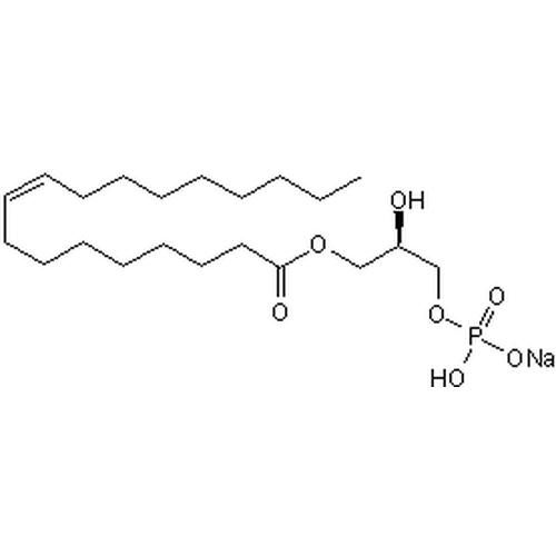 <p>Chemical structure of Lysophosphatidic Acid (SIH-403), a Autophagy inhibitor. CAS #:  22556-62-3 . Molecular Formula: C21H41O7P. Molecular Weight: 436.5245 g/mol.</p>