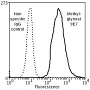 Mouse Anti-Methylglyoxal Antibody [9E7] used in Flow Cytometry (FCM) on Human Neuroblastoma cells (SH-SY5Y) (SMC-516)